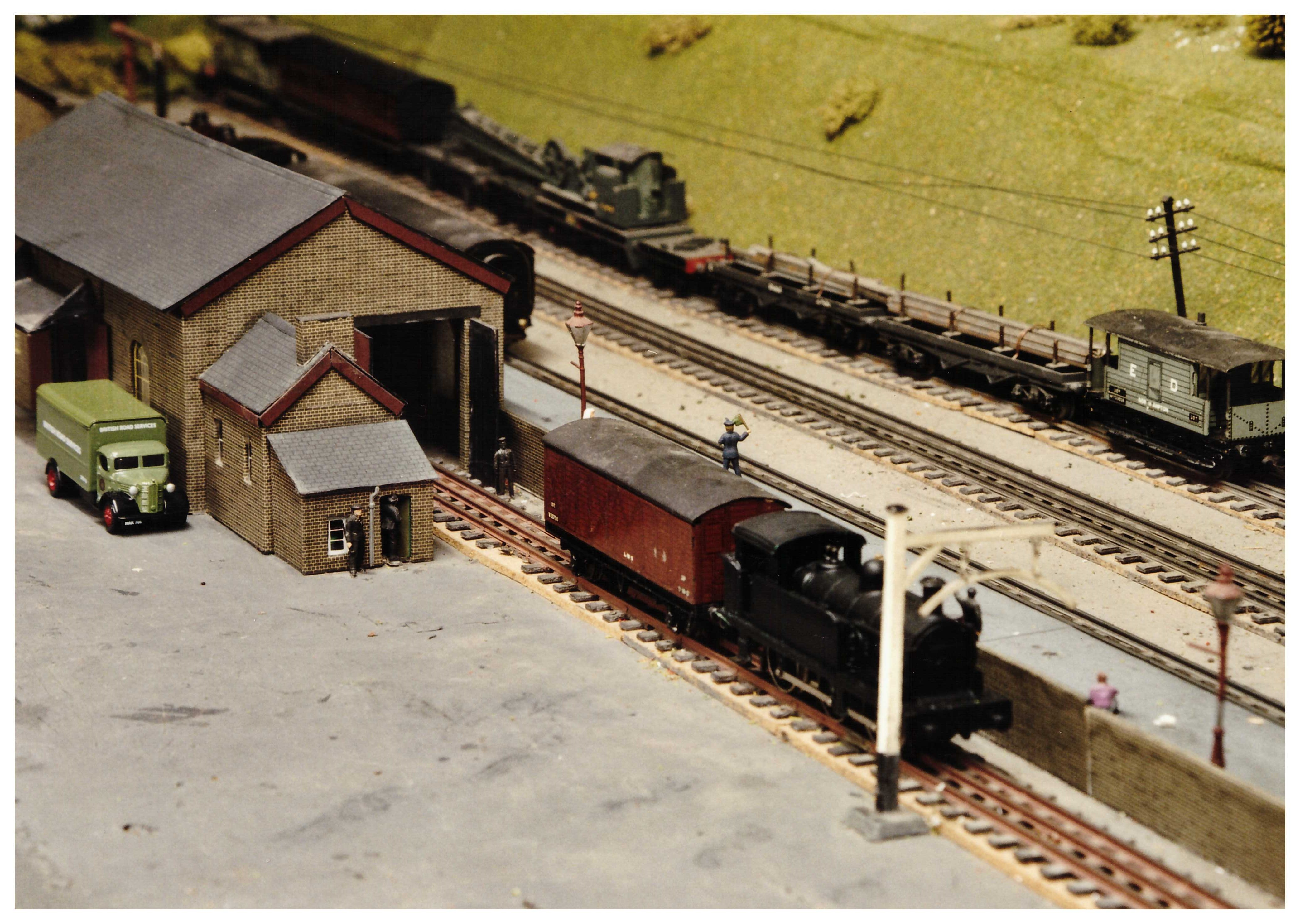 Goods shed and station pilot with Engineers siding at the back